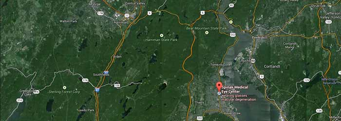 Satellite view of Spinak Medical Eye Center Stony Point, NY office in Liberty Square